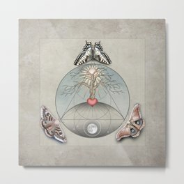 Three: An allegory for Transformation Metal Print