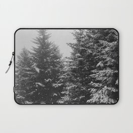 The Pine Tree Forest (Black and White) Laptop Sleeve