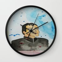 crowley Wall Clocks featuring supernatural crowley by meldemirci
