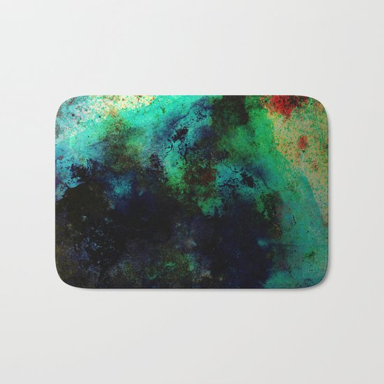 The Life In Your Veins - Abstract, acrylic, textured painting Bath Mat