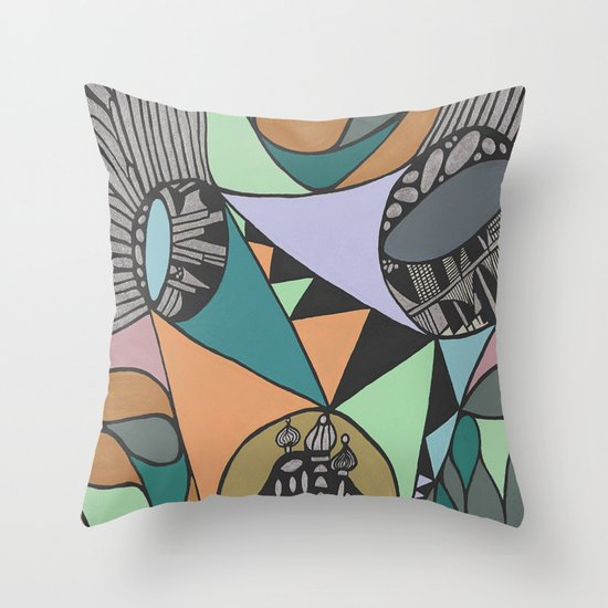 Three Districts Throw Pillow