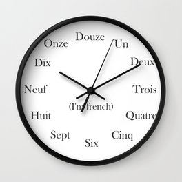 (I'm french) Wall Clock