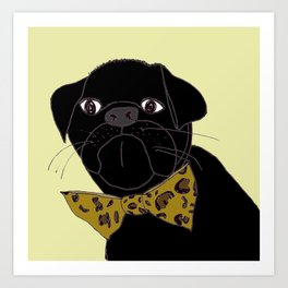Jasper is in your Closet, Wearing your Leopard-Print Bow tie Art Print