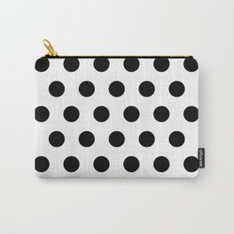 White & Black Polka Dots Carry-All Pouch