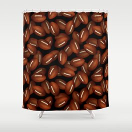 Footballs pattern Shower Curtain