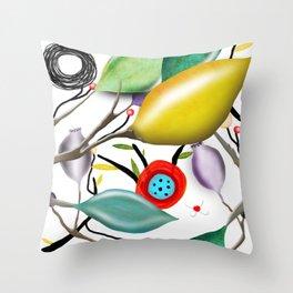 Cinque Terre - Lemons Lemon - Italian Riviera - Limoni Lemon Pattern Home Decor Throw Pillow