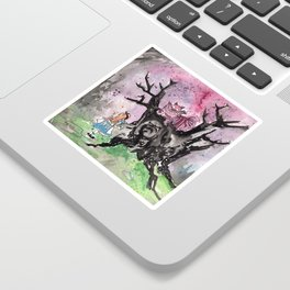 Alice & the Cheshire Cat Sticker