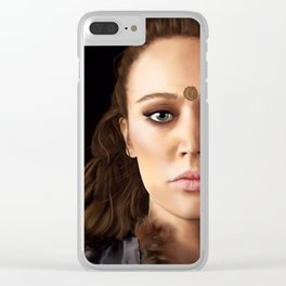Lexa Painting Clear iPhone Case