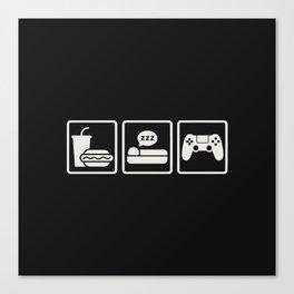 Eat Sleep Game Canvas Print