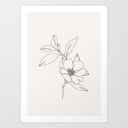 Tropical flower illustration - Betty Art Print
