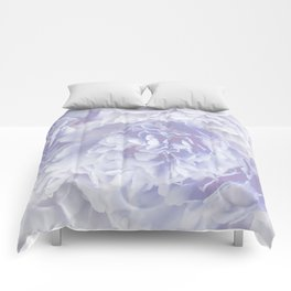 Flower Bouquet In Pastel Blue Color - #society6 #buyart Comforters