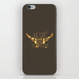 Cassandra Clare - We Live And Breathe Words iPhone Skin