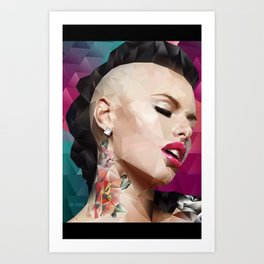 Christy Mack is back. Art Print