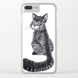 Thomas the Cat Clear iPhone Case