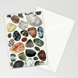 beach pebbles Stationery Cards