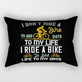 Cycling Bike Lover Gifts Rectangular Pillow