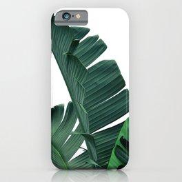 Tropical Leaf Print, Botanical Wall Art Print, Banana Leaf Print ,Tropical Decor iPhone Case