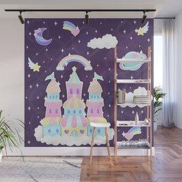 Dreamy Cute Space Castle Wall Mural