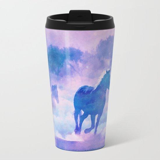 Horses run Metal Travel Mug