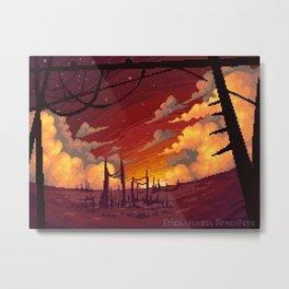 Sunset in ruins Metal Print