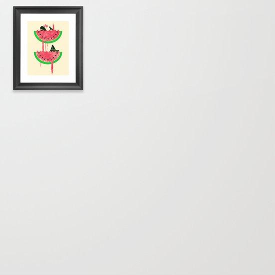 Watermelon falls Final Framed Art Print