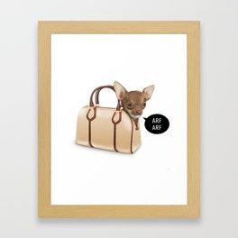 BagDog Framed Art Print