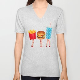 Combo Meal Pin-Ups Unisex V-Neck