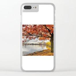 Fall in Boston, MA Clear iPhone Case
