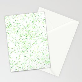 Soft Green and Yellow Scattered Spots Stationery Cards