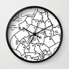 Brooklyn Vintage Map 1957 Wall Clock