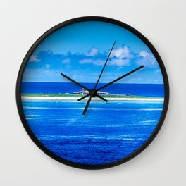 Remote Weather Station Wall Clock