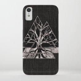Valknut Symbol and Tree of life  -Yggdrasil iPhone Case