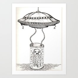 Jellyfish abduction Art Print