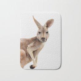 Kangaroo Print, Australian Animal Wall Art, Nursery Decor, Kids Room Poster Bath Mat