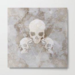 Marble Skulls Metal Print