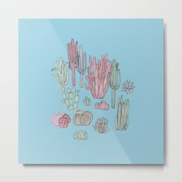 Desert Plants Metal Print
