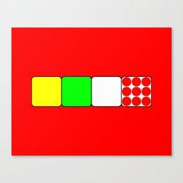 Tour de France Jerseys Alt 1 Red Canvas Print