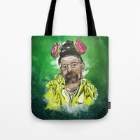 walter white Tote Bags featuring Walter White  by Madows