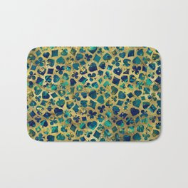 Gold and Marble Suits Pattern Digital Art Bath Mat