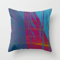 quibe Throw Pillows featuring Feel the texture III by Magdalena Hristova