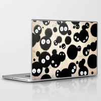 miyazaki Laptop & iPad Skins featuring Cute Susuwatari Infestation by Puddingshades