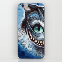 cheshire cat iPhone & iPod Skins featuring Cheshire Cat by hannahclairehughes