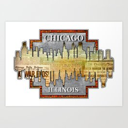 A Souvenir From Chicago Art Print