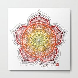 Mandala - Radiant Metal Print