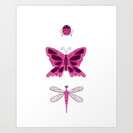 Pink Bugs Art Print
