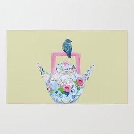 Bluebird and Teapot Rug