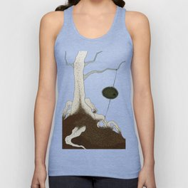 white tree Unisex Tank Top