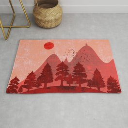 Hills and mountains of Japan Rug