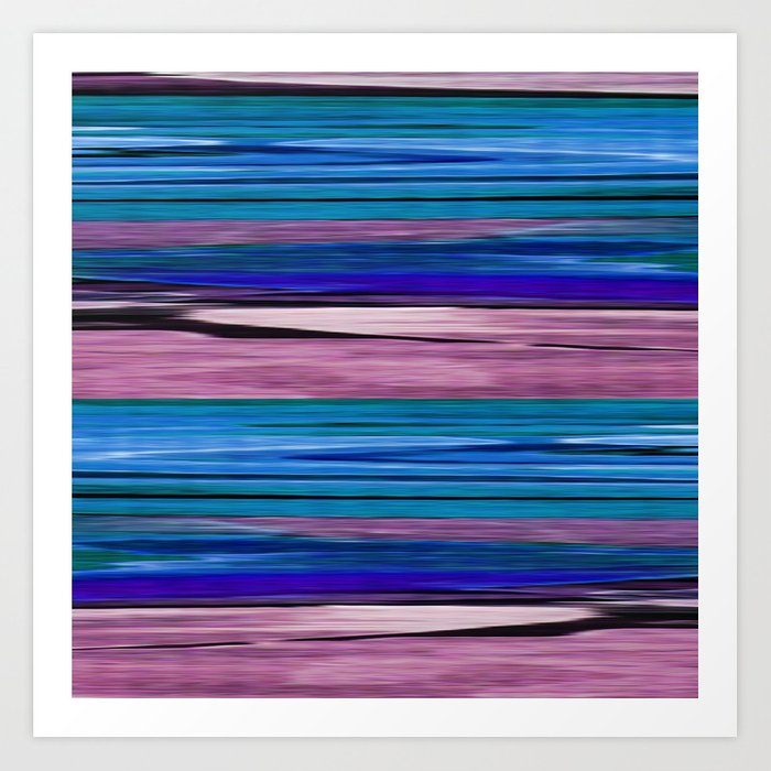Abstract pattern . lilac blue . Art Print