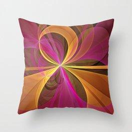 Luminous Colors, Abstract Fractal Art Throw Pillow
